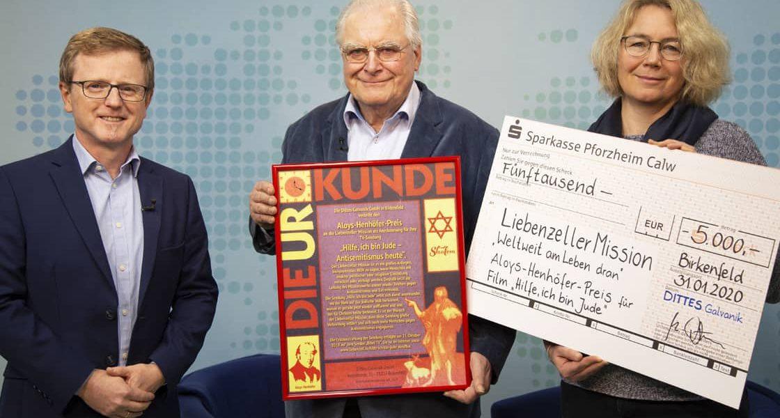 News: TV-Sendung zum Thema Antisemitismus ausgezeichnet – Liebenzeller Mission erhält Aloys-Henhöfer-Preis